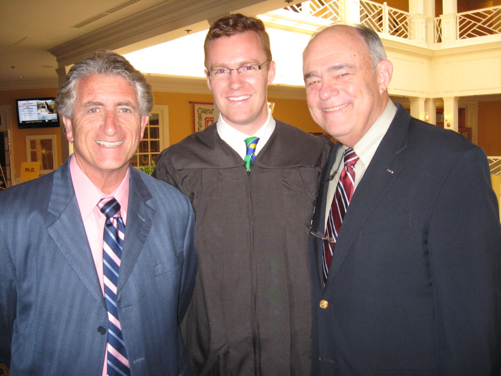 With my father (Dr. Bob Shearer, right) and professor (Dr. Joseph Umidi, left) just before my graduation from seminary.